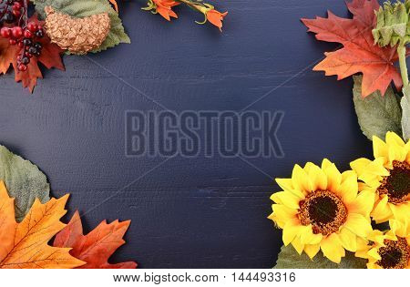 Autumn Fall Background With Decorated Borders.
