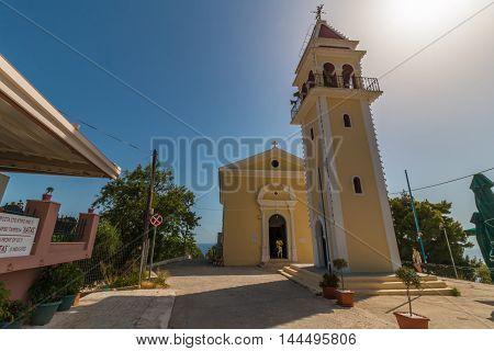 Traditional church at Bochali area of Zakynthos island in Greece