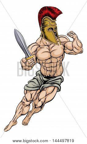 Roman Gladiator Warrior