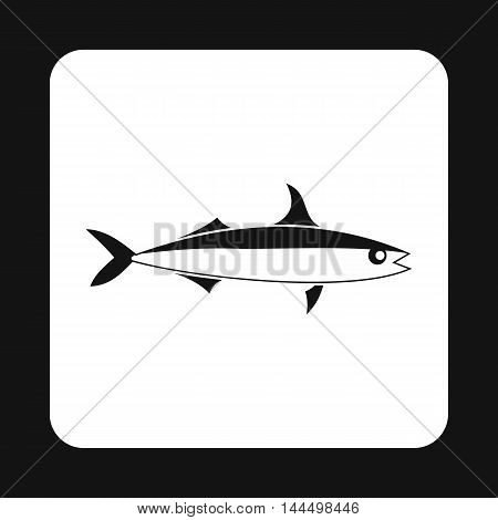 Smelt fish icon in simple style isolated on white background. Inhabitants aquatic environment symbol poster