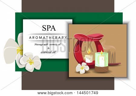 the concept of aromatherapy with image aroma lamp candle the sticks