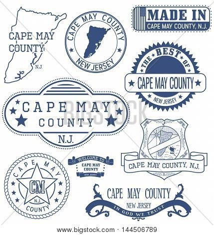Cape May County, Nj, Generic Stamps And Signs