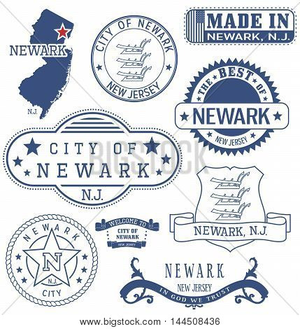 Newark City, Nj, Generic Stamps And Signs