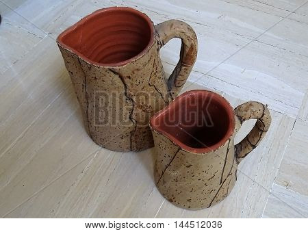 Beer mugs.  Costant temperature. Object characteristic.  Vintage