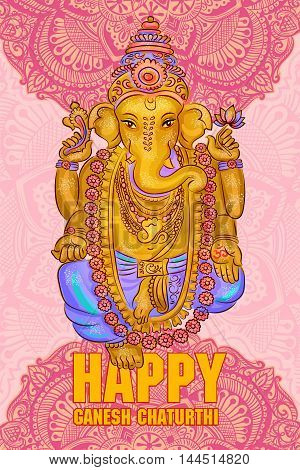 lord Ganesh. Ganesh Puja. Ganesh Chaturthi. It is used for postcards prints textiles tattoo