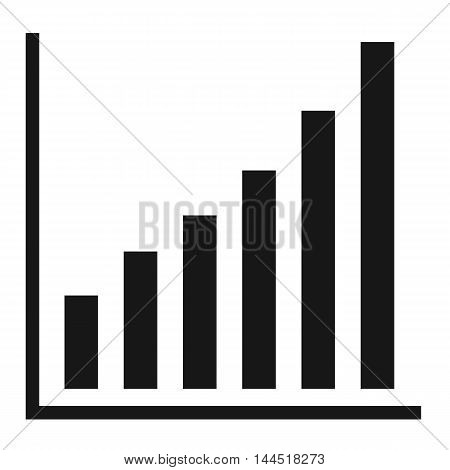 Chart icon Vector growing graph icon, Abstract colorful vector cube