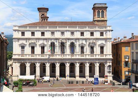 Palace Palazzo Nuovo In Bergamo, Citta Alta, Italy