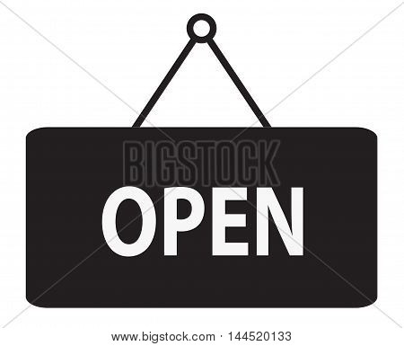 Open Icon, Open sign, Sign says Open