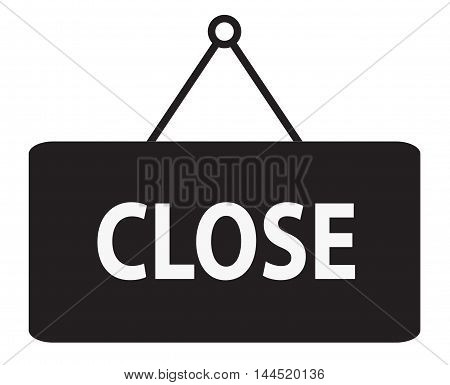Close icon, Close sign, \Sign says closed