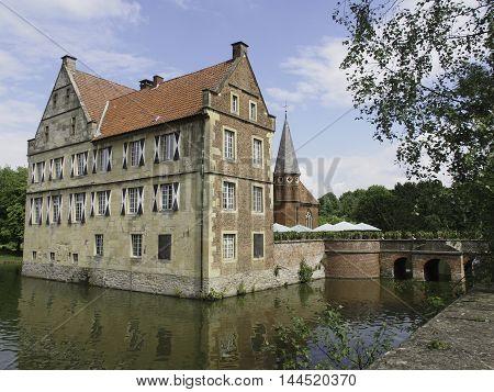 the Castle huelshoff near the german town muenster