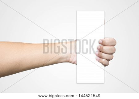 hand, hold, paper, paper hold, paper on hand, White background, White Paper