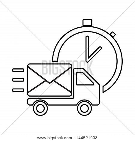 Fast Shipping Delivery Truck Flat Icon
