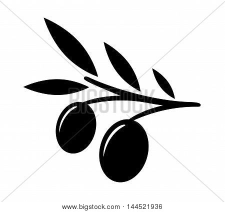 isolated black nature olive tree branch silhouette