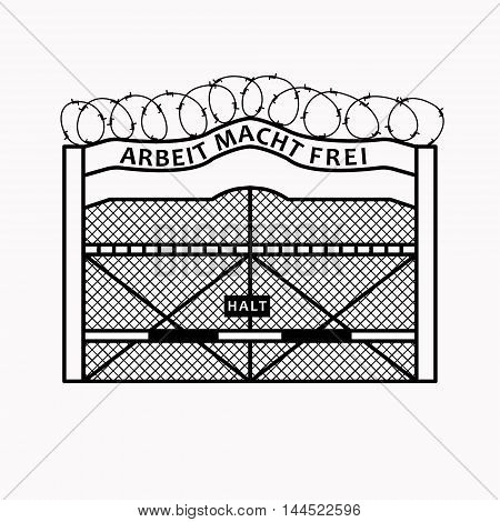 Big Gate With Barbed Wire