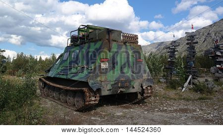 Kola Peninsula.Russian transport for tundra.August 12,2016.Murmansk Region,Russia