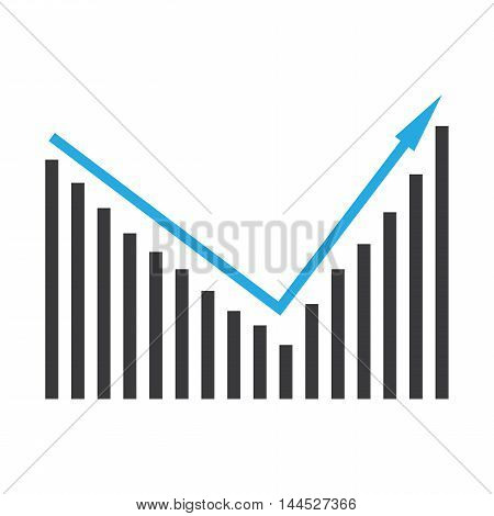 Pictorial diagram of ascending bar graph vector