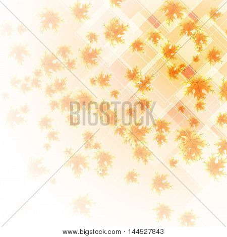 abstract background with falling autumn leaves. vector