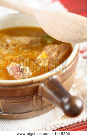 Soup With Chicken And Couscous
