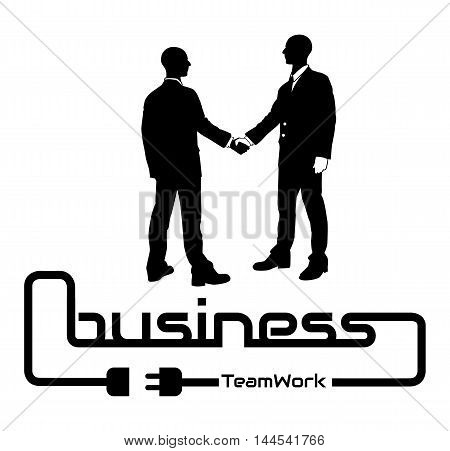 BUSINESS TEAMWORK BACKGROUND FLYER POSTER DESIG WHITE