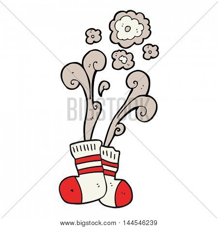 freehand drawn cartoon smelly old socks
