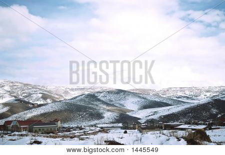 Utah Mountains, Sunlight & Shadow,