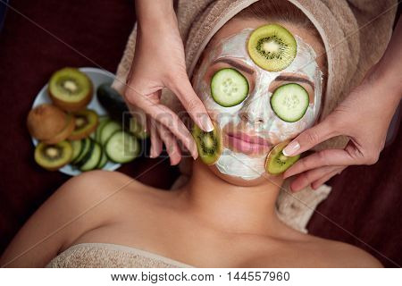Mask made of natural ingredients, homemade mask for to hydrate skin