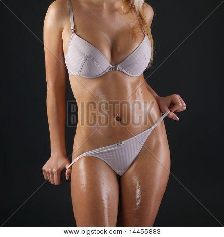 Corpo sexy jovem senhora atraente