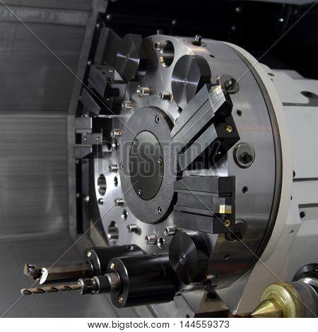 The clamping mechanism of modern cutting machine.
