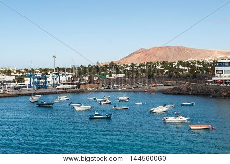 LANZAROTE, SPAIN - SEPTEMBER 9, 2015: Playa Blanca on Lanzarote. Canary Island .Spain