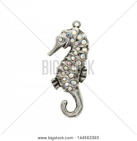 seahorse pendant on a white background