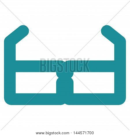 Spectacles vector icon. Style is linear flat icon symbol, soft blue color, white background.
