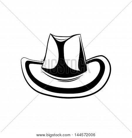 Cowboy Hat. Isolated on White Background. Wild West. Western. Vector Illustration