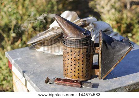 Smoker for bees, beekeeper tool beekeeping, apiarist