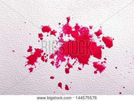 Abstract Red Paint