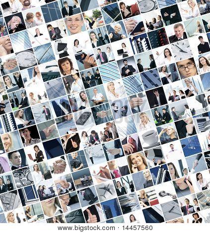 Geschäft Collage hergestellt aus 225 Geschäft-Bilder