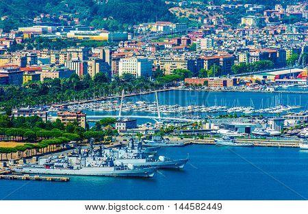 La Spezia City Marina Italy. La Spezia Cityscape and the Bay