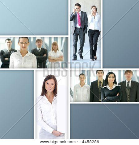 Geschäft Collage hergestellt aus vier schöne Bilder