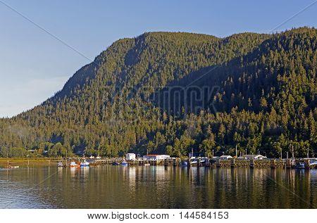 Coastal Town on the Inside Passage near Juneau Alaska