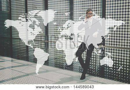 Global Business International World Community Concept