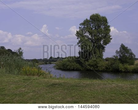 the river ems in the german emsland