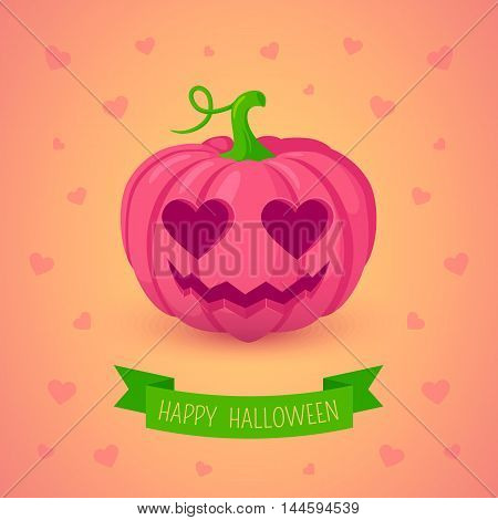 Traditional halloween symbol in cute design easy to edit.