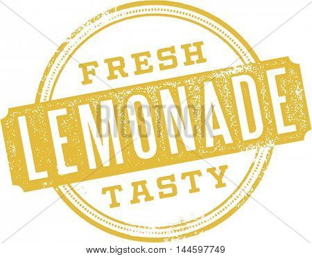 Fresh Lemonade Vintage Stamp