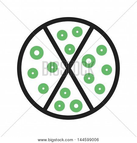 Pizza, food, party icon vector image. Can also be used for birthday. Suitable for use on web apps, mobile apps and print media