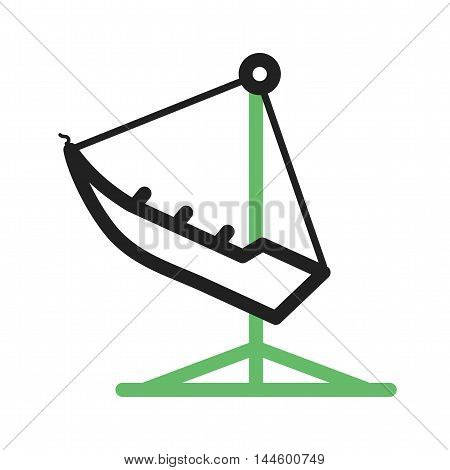 Swing, park, fun icon vector image. Can also be used for circus. Suitable for mobile apps, web apps and print media.