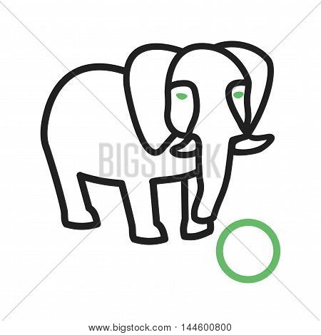 Circus, elephant, painting icon vector image. Can also be used for circus. Suitable for mobile apps, web apps and print media.