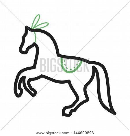 Circus, horse, standing icon vector image. Can also be used for circus. Suitable for mobile apps, web apps and print media.