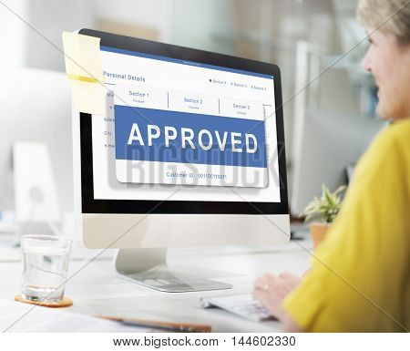 Approved Entry Pending Waiting Reject Concept poster