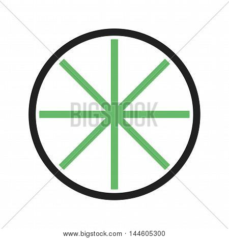Wheel, wooden, agriculture icon vector image. Can also be used for farm. Suitable for mobile apps, web apps and print media.