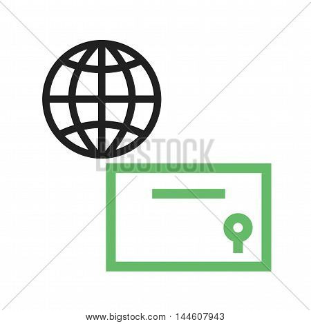 Global, certificate, education icon vector image. Can also be used for E Learning. Suitable for mobile apps, web apps and print media.