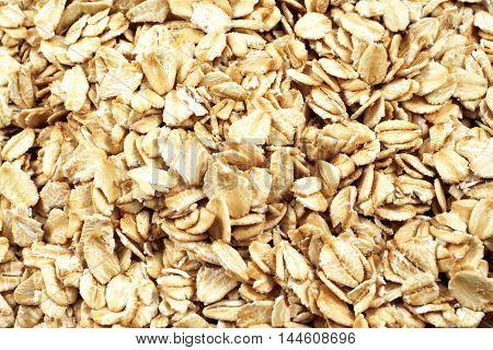 A close up image of whole grain oatmeal